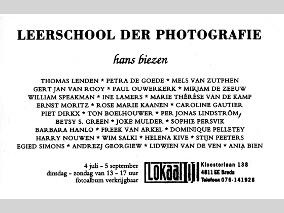 invitation - Leerschool der Photographie (School of Photography)